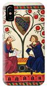 German Minnesinger 14th C IPhone Case