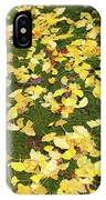 Ginkgo Biloba Leaves IPhone Case