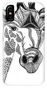 Giraffe IPhone Case by Barbara McConoughey