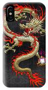 Golden Chinese Dragon Fucanglong  IPhone Case