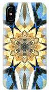 Golden Flower Abstract IPhone Case