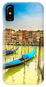 Gondolas In Venice - Italy  IPhone Case