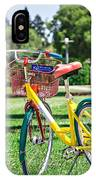 Google Bike Parked Near Googleplex Facility Park IPhone Case