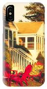 Goose Creek Beach Cottages IPhone Case