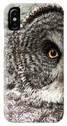 Great Grey Wake Up IPhone Case