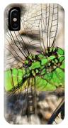 Green Dragonfly Closeup IPhone Case