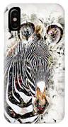 Grevys Zebra, Samburu, Kenya IPhone Case