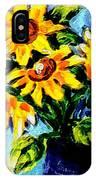 Happy Sunflowers  IPhone Case