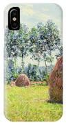 Haystacks At Giverny IPhone Case