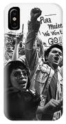 Hispanic Anti-viet Nam War Rally Tucson Arizona 1971 IPhone Case