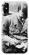 Hitler And Goebbels As The German Chancellor Signs An Autograph IPhone Case