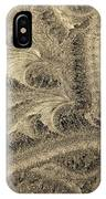 Extraordinary Hoarfrost Scallop Patterns In Sepia IPhone Case
