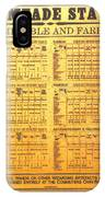 Hogsmeade Station Timetable IPhone Case