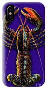 Homarus Vulgaris Flying On The Purple IPhone Case