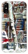 Achetez Les Meilleurs Peintures De Scenes De Montreal En Hiver Winter Scene Paintings IPhone Case