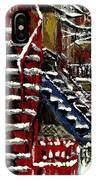 Escaliers De Montreal Ville De Verdun Best Original Montreal Paintings On Sale Peintures  IPhone Case