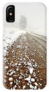 Ice Fog In Cypress Hills Provincial Park Of Saskatchewan IPhone Case