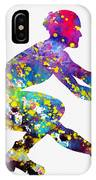 Ice Skater-colorful IPhone Case