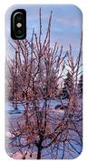 Icy Tree At Sunset  IPhone Case