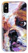 Impressionistic Bulldog Painting  IPhone Case