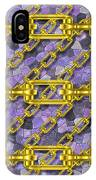 Iron Chains With Mosaic Seamless Texture IPhone Case