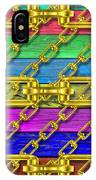 Iron Chains With Wood Texture IPhone Case
