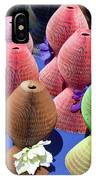 Ladies Collapsible Straw Hats At The Cove Marketplace At Port Ca IPhone Case