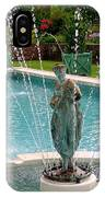 Lady In Fountain IPhone Case