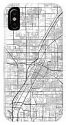 Las Vegas Nevada Usa Light Map IPhone Case