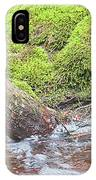 Leaning Tree Trunk By A Stream IPhone Case