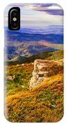 Light On Stone Mountain Slope With Forest IPhone Case