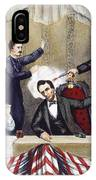 Lincoln Assassination IPhone Case