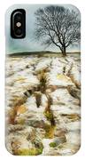 Painted Effect - Lone Tree IPhone Case by Susan Leonard