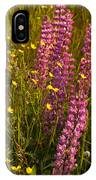 Lupins And Buttercups IPhone Case