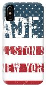 Made In Ballston Spa, New York IPhone Case