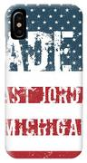 Made In East Jordan, Michigan IPhone Case