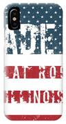 Made In Flat Rock, Illinois IPhone Case