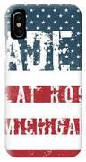 Made In Flat Rock, Michigan IPhone Case
