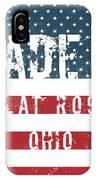 Made In Flat Rock, Ohio IPhone Case