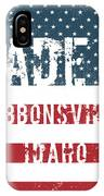 Made In Gibbonsville, Idaho IPhone Case