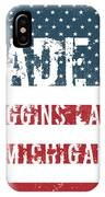 Made In Higgins Lake, Michigan IPhone Case