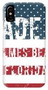 Made In Holmes Beach, Florida IPhone Case