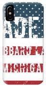 Made In Hubbard Lake, Michigan IPhone Case