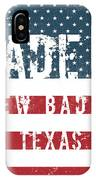 Made In New Baden, Texas IPhone Case