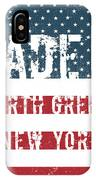 Made In North Greece, New York IPhone Case