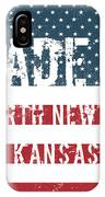 Made In North Newton, Kansas IPhone Case