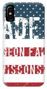 Made In Pigeon Falls, Wisconsin IPhone Case