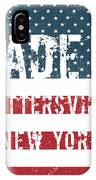 Made In Pottersville, New York IPhone Case