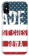 Made In West Chester, Iowa IPhone Case