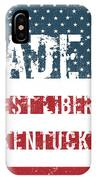 Made In West Liberty, Kentucky IPhone Case